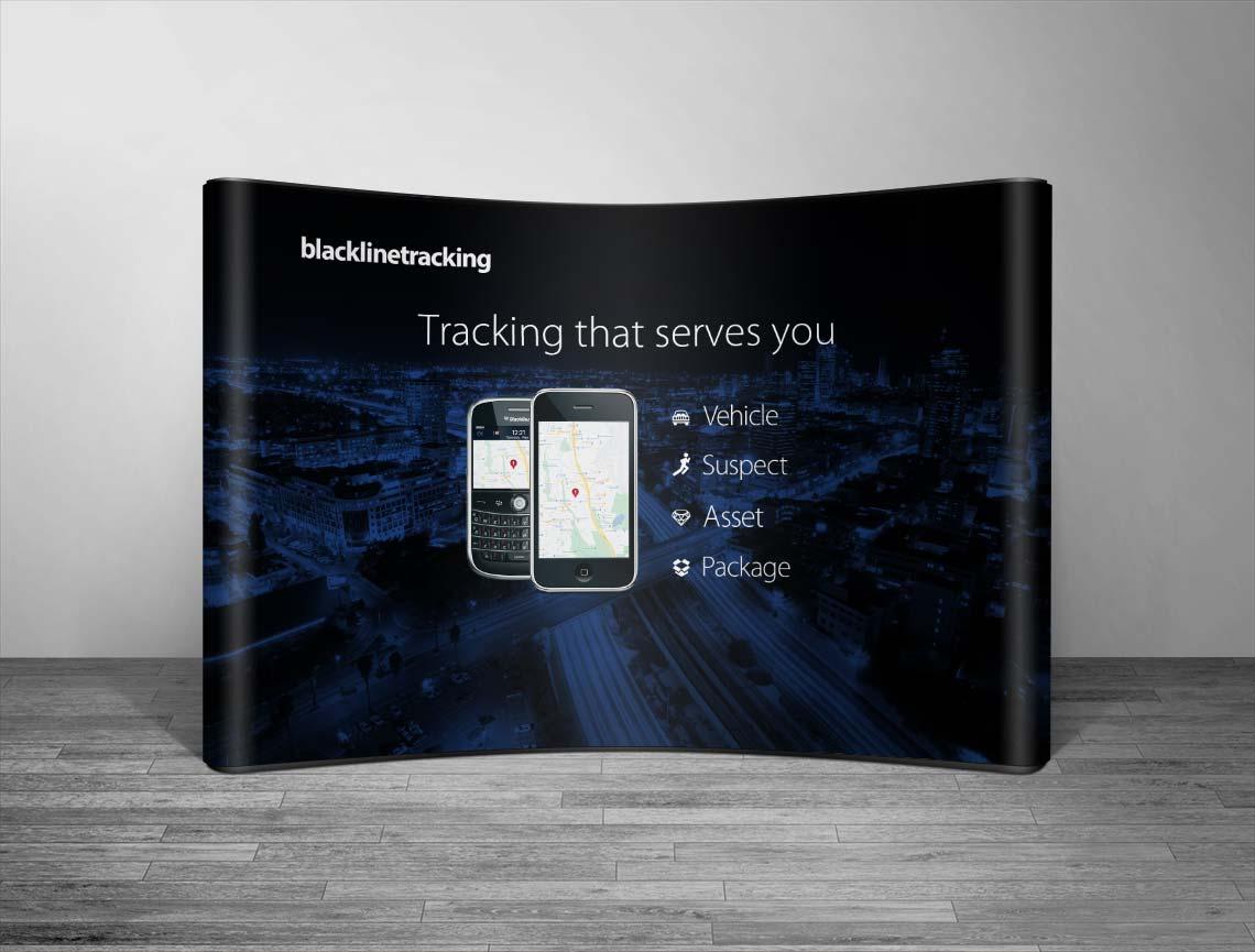 blackline tracking backdrop banner design