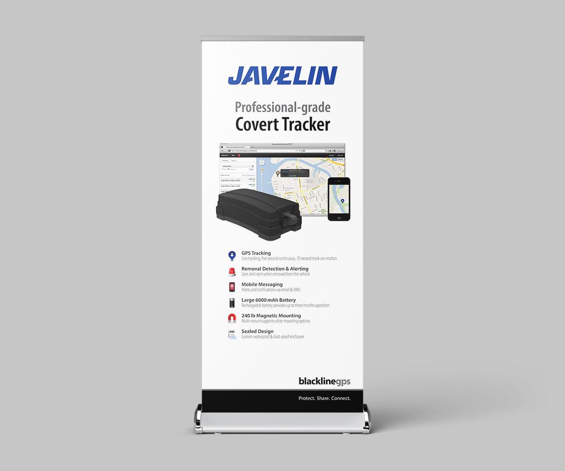 blackline tracking javelin banner design