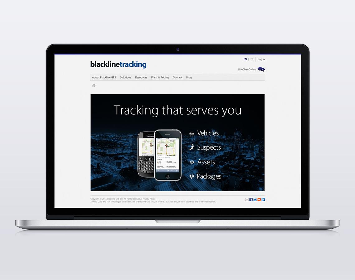 blackline tracking web design