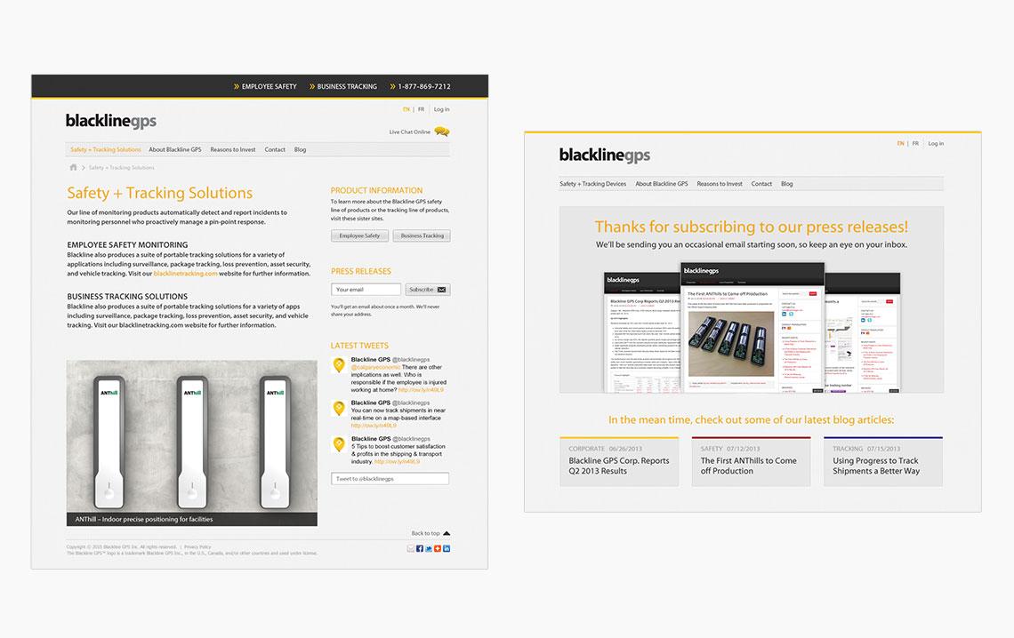 website design blackline gps