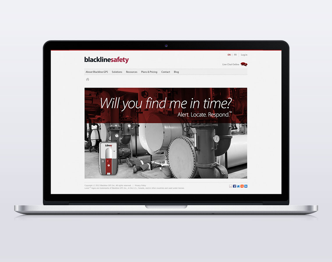 blackline safety website design