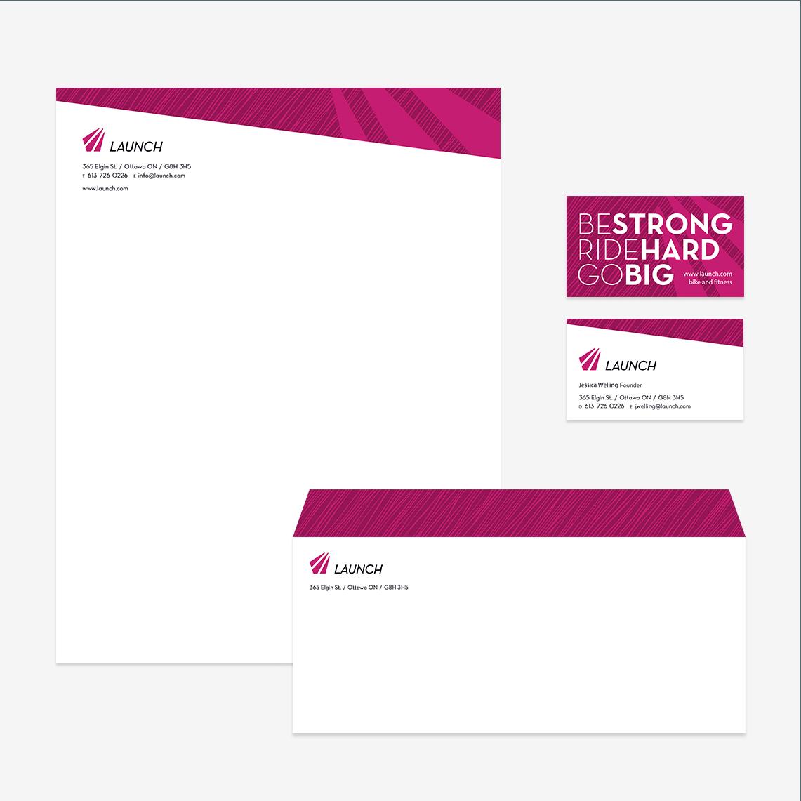 launch brand stationary design