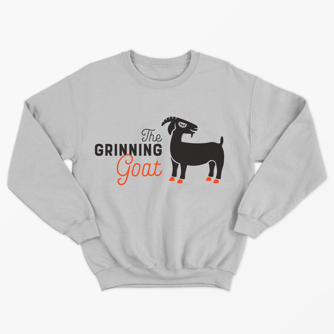 the grinning goat sweater design
