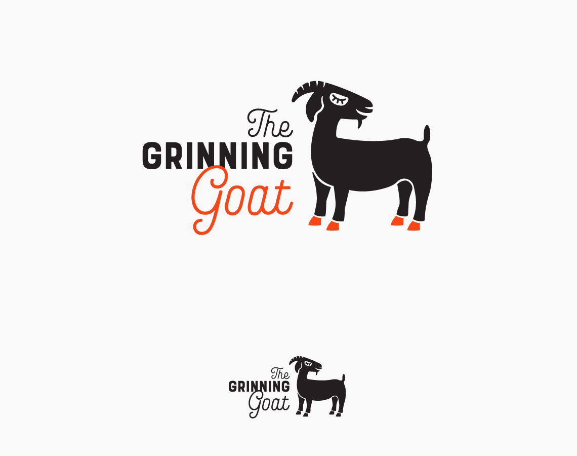 the grinning goat logo design