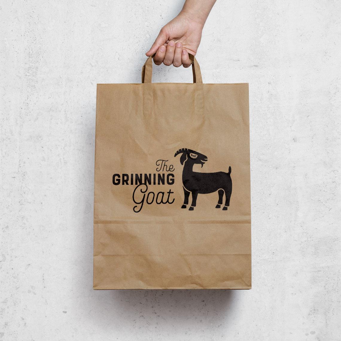 the grinning goat bag design