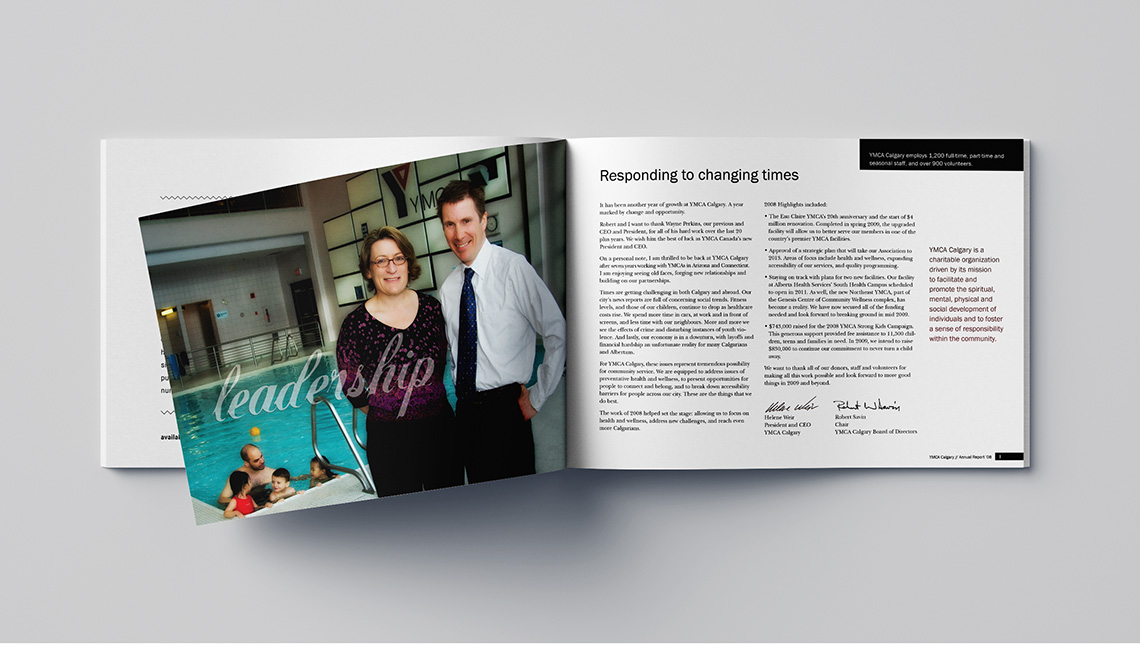 ymca calgary annual report leadership