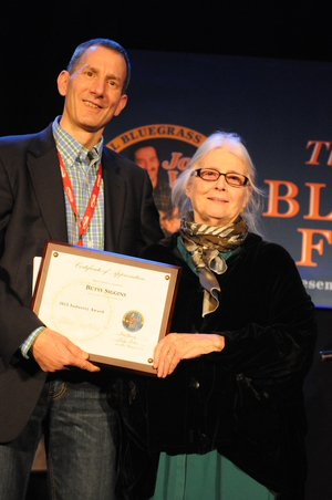 Gerry Katz of the Boston Bluegass Union and Betsy Siggins