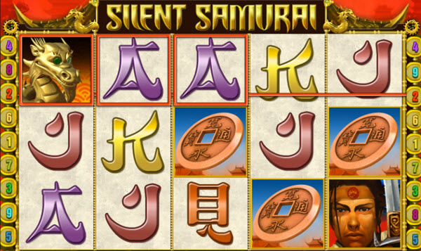wild symbol of silent samurai slot game