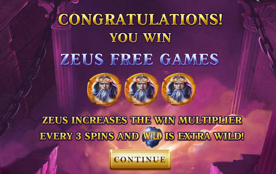 Age of the Gods bonus rounds