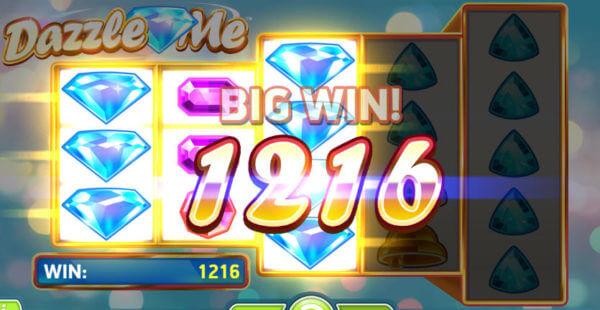 dazzle me slot game big win