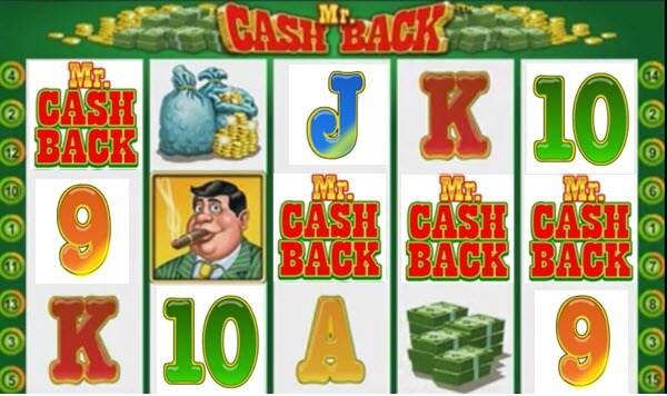scatter symbol of Mr. Cashback slot game