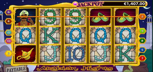 wild symbol of arabian nights slot game