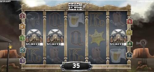 scatter symbol of dead or alive slot game