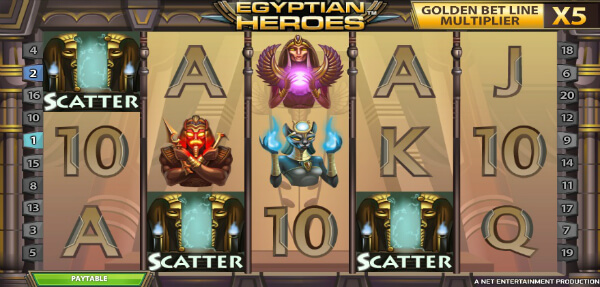 scatter symbol of egyptian heroes video slot