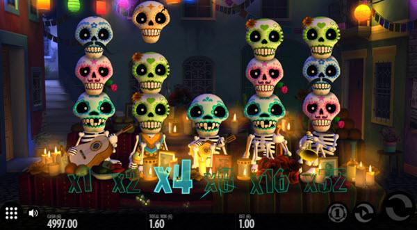multipliers of Esqueleto Explosivoslot game