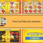 symbols and bonus games of suntide slot machine