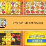 symbols and bonus games of suntide slot machine
