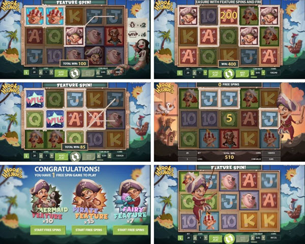 Features of Hook's Heroes slot game