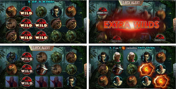 Jurassic park slot by Microgaming