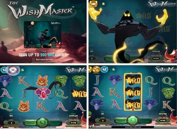 The Wish Master slot game - Play for free Net Entertainment slots