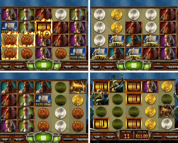 bonus games of Vikings go wild slot game