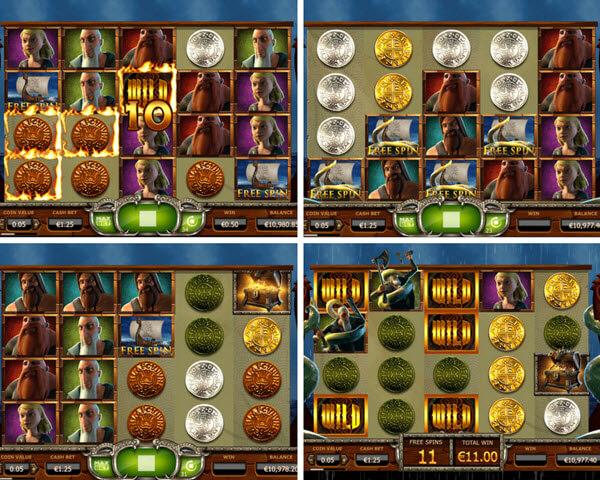 bonus games of Vikings go wild slot game