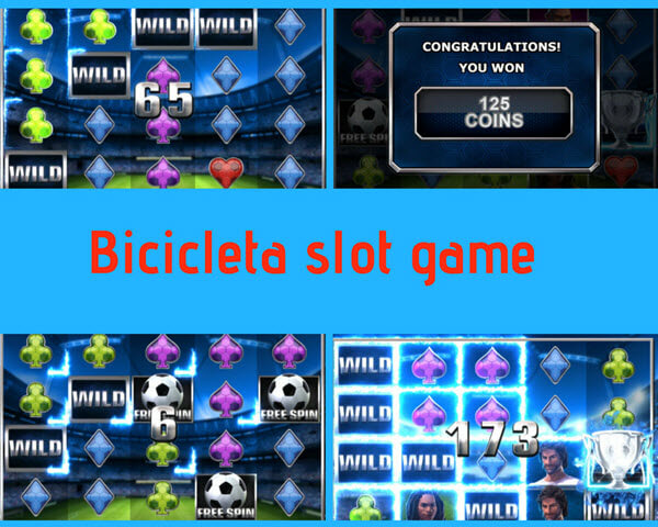 features of bicicleta slot games Scatter Free Spins Trophy Free Spins Wild Reels Feature