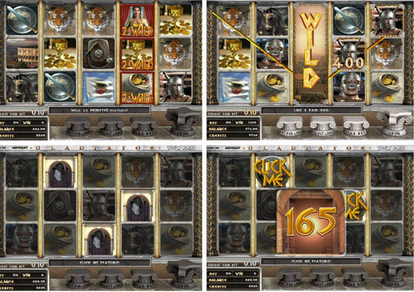 Features of Gladiator slot