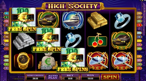 scatter symbol of high society slot game