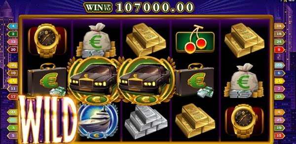 wild symbol of high society slot game