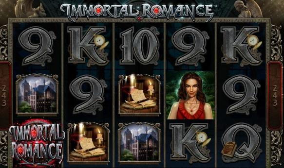wild symbol of immortal romance slot game