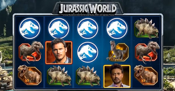wild symbol of jurassic world slot game