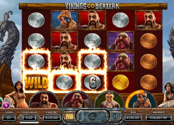 wild symbol of Vikings Go Berzerk slot game