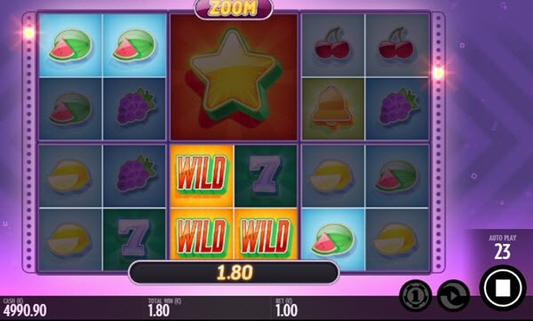 wild symbol of zoom slot game