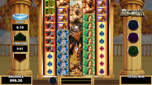 wild symbol of Hercules High & Mighty slot