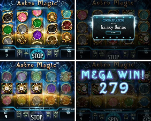 Astro magic slot game by iSoftBet