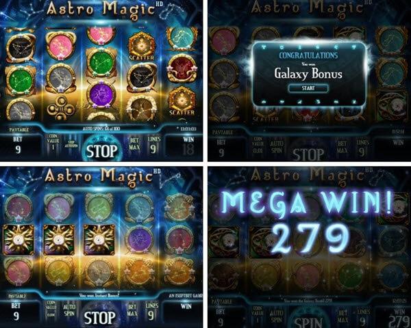 Astro magic slot game by iSoftBet
