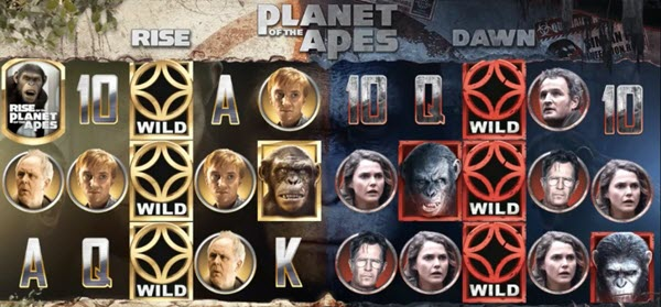 wilds symbols of planet of the apes slot game