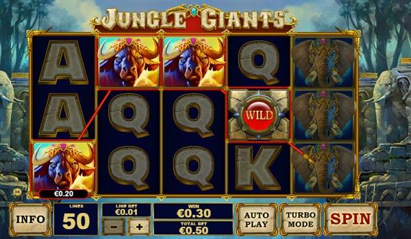 wild symbol of jungle giants slot game