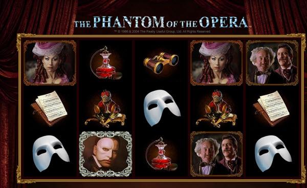 scatter symbol of phantom of the opera slot game