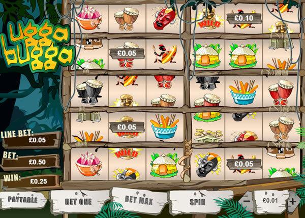 wild symbol of ugga bugga slot game