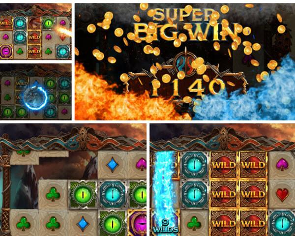 bonus features of double dragon slot game