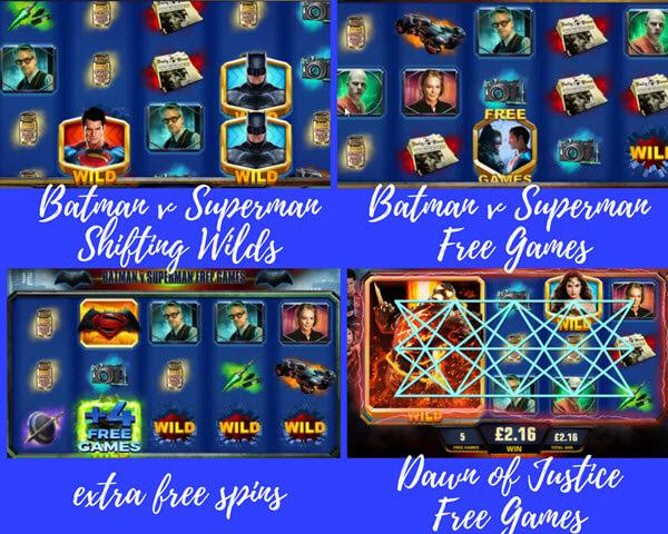 bonus games of Batman vs. Superman Dawn of Justice slot game