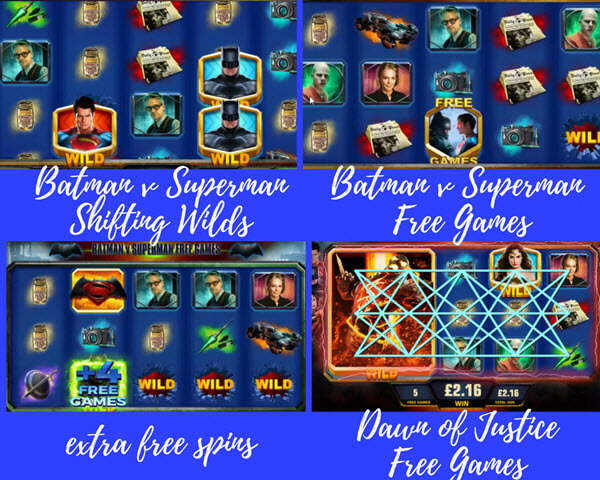 bonus games of Batman vs. Superman Dawn of Justice slot game