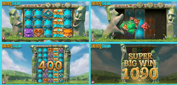 bonus features of easter island slot game