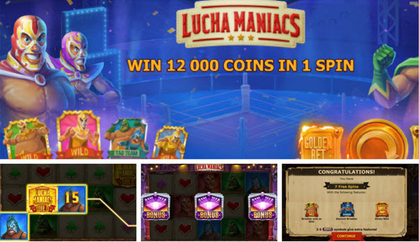bonus features of Lucha Maniacs slot game