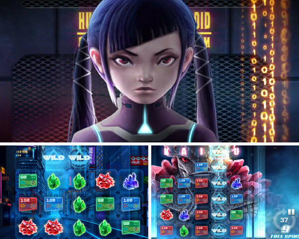bonus features of Kaiju slot game
