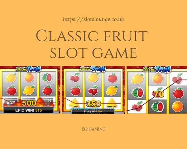 The Symbols of Classic fruit slot game