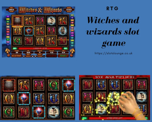Witches and wizards slot game-features