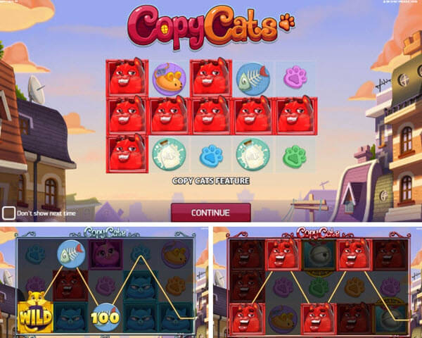 features of copy cats slot game-netent slots
